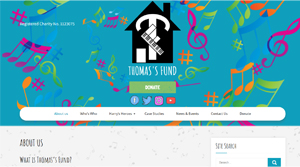 Visual of the Thomas's Fund website homepage.