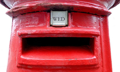 Photo of a red post box