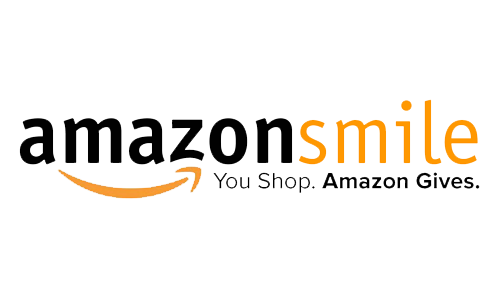 words amazon smile written with a yellow smile pointing from the a to the z in the word Amazon. You Shop, Amazon Gives is written underneath
